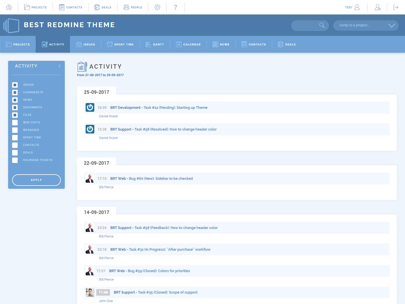 Theme List - Redmine